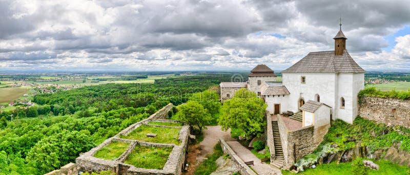 Château Kuneticka Hora, République Tchèque image libre de droits