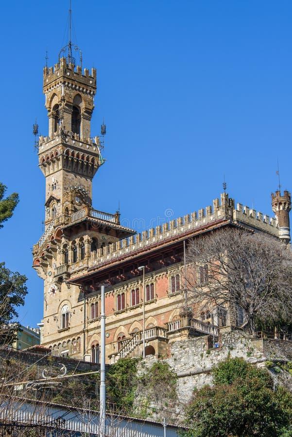 Château le Mackenzie à Gênes photographie stock