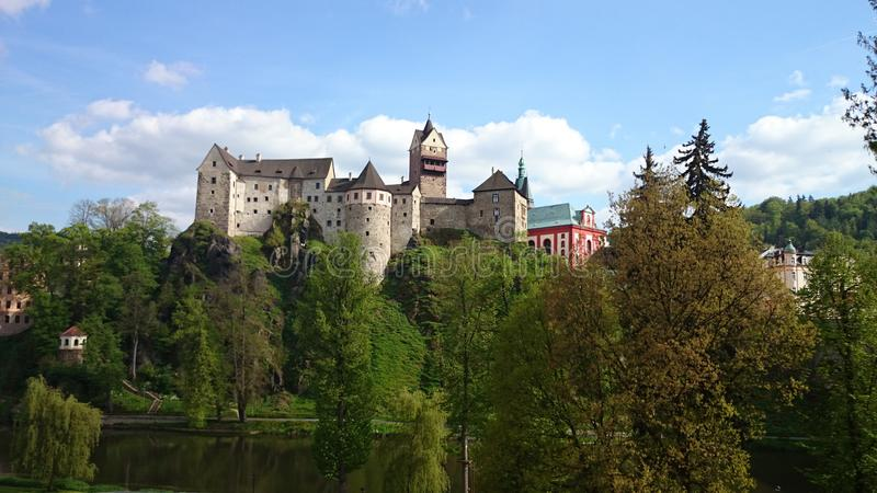 Château Loket photo libre de droits