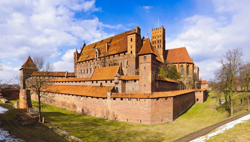 Château médiéval dans le malbork, Pologne photo libre de droits