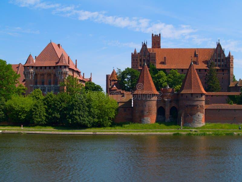 Château médiéval dans Malbork photos libres de droits