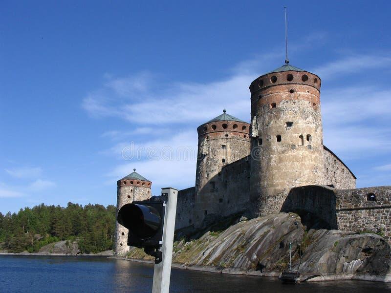 Château médiéval dans Savonlinna images stock