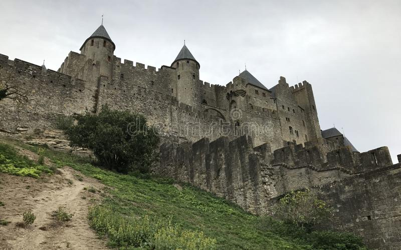 Château médiéval de Carcassonne, France photographie stock libre de droits