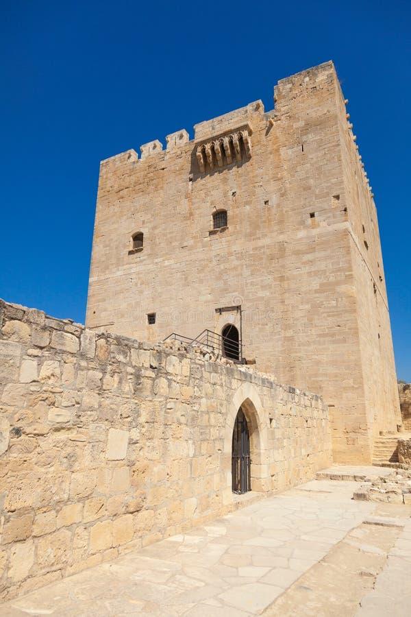 Château médiéval de Kolossi photos stock
