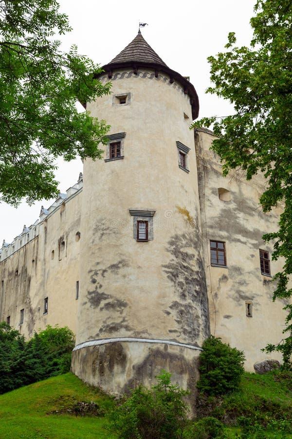 Château médiéval de Niedzica images libres de droits