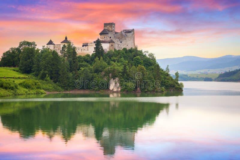 Château médiéval de Niedzica photo stock