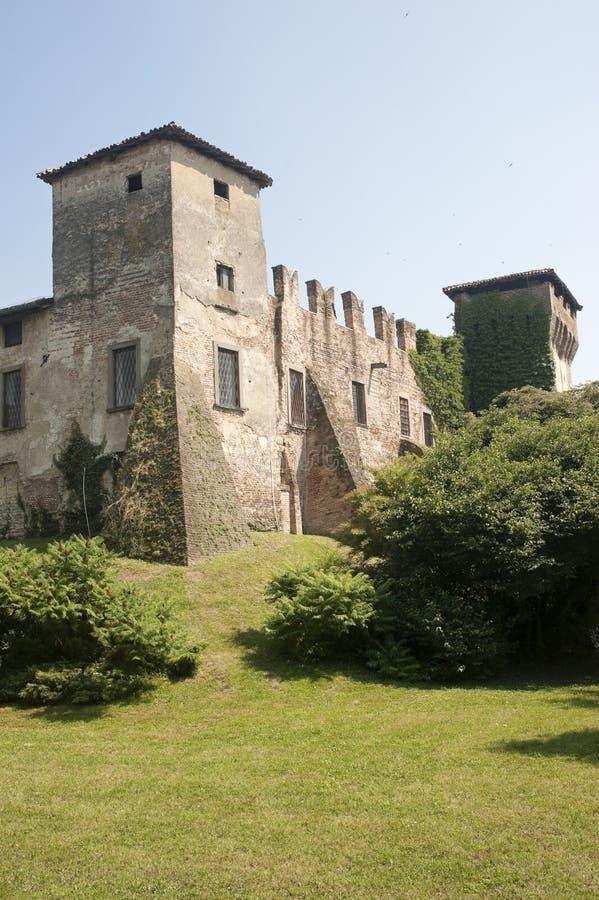 Château médiéval de Romano di Lombardia image stock