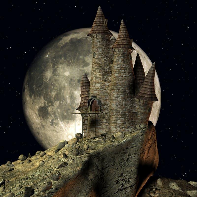 Château médiéval de Toon illustration de vecteur