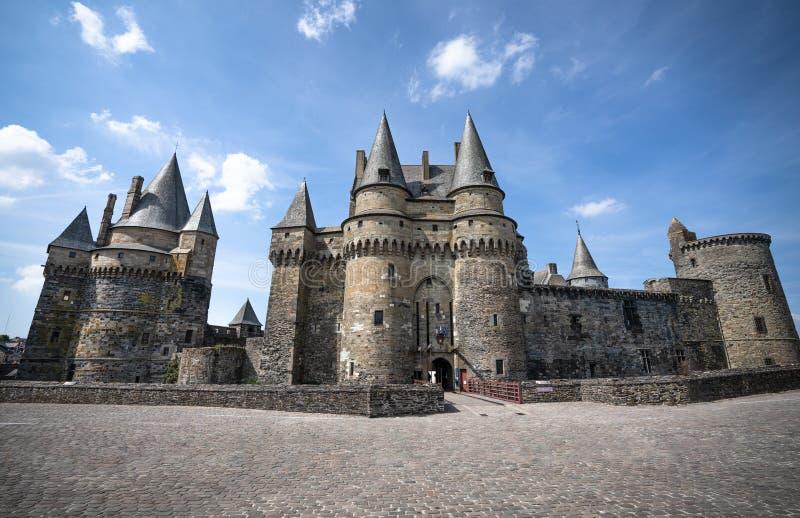 Château médiéval de ville de Vitre vieux photo stock