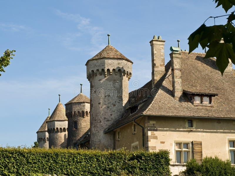 Château médiéval en France photos stock