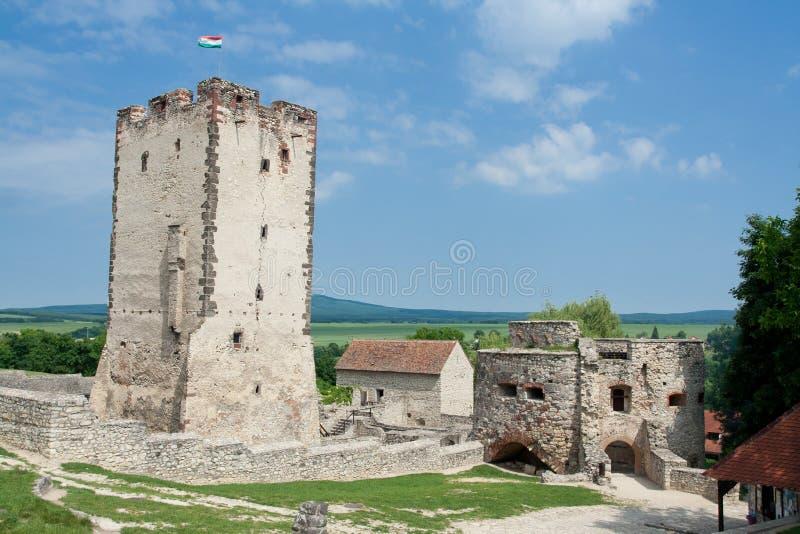 Château médiéval Nagyvazsony Hongrie de Kinizsi photo libre de droits
