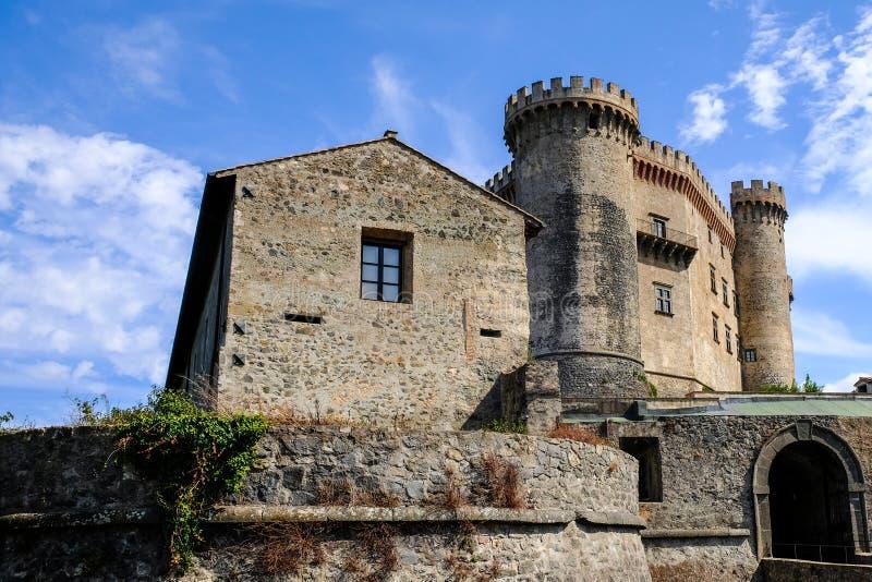 Château médiéval Odescalchi dans Bracciano, Italie photos libres de droits