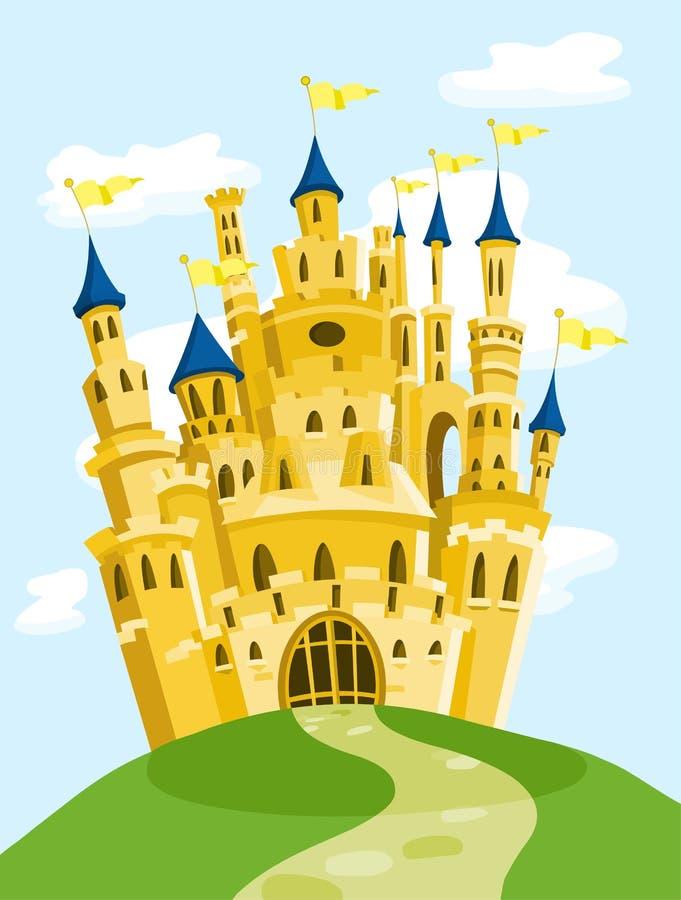 Château magique illustration de vecteur