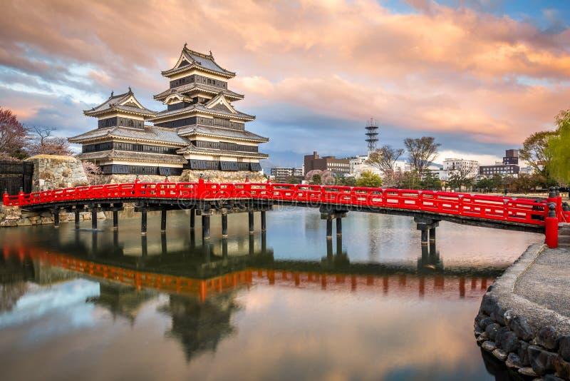 Château Matsumoto-jo de Matsumoto, châteaux historiques premiers japonais dans Honshu easthern, Matsumoto-shi, région de Chubu, N photos libres de droits