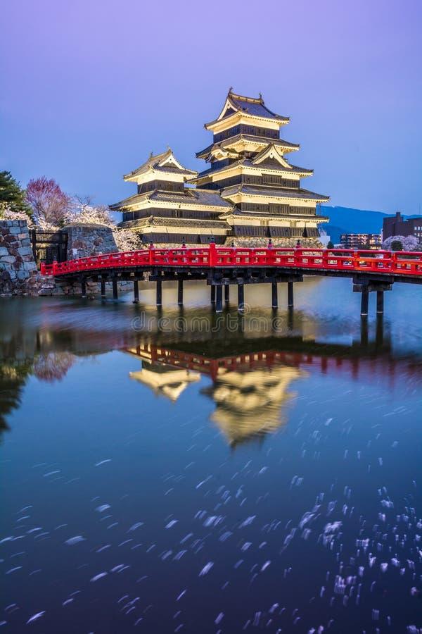 Château Matsumoto-jo de Matsumoto, châteaux historiques premiers japonais dans Honshu easthern, Matsumoto-shi, région de Chubu, N photo libre de droits