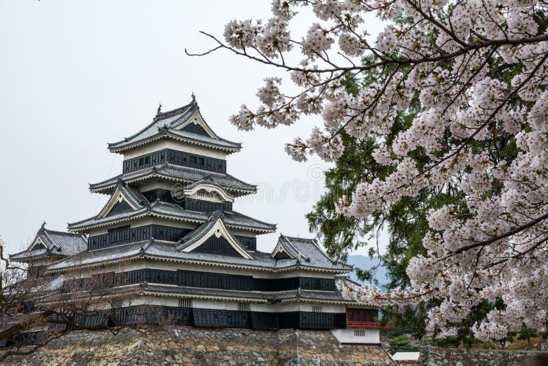 Château Matsumoto-jo de Matsumoto, châteaux historiques premiers japonais dans Honshu easthern, Matsumoto-shi, région de Chubu, N image stock