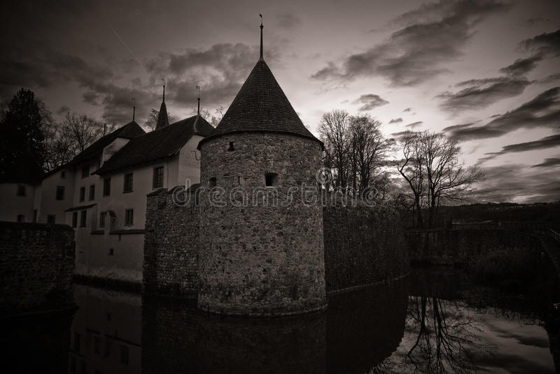 Château mystérieux Hallwil photos libres de droits