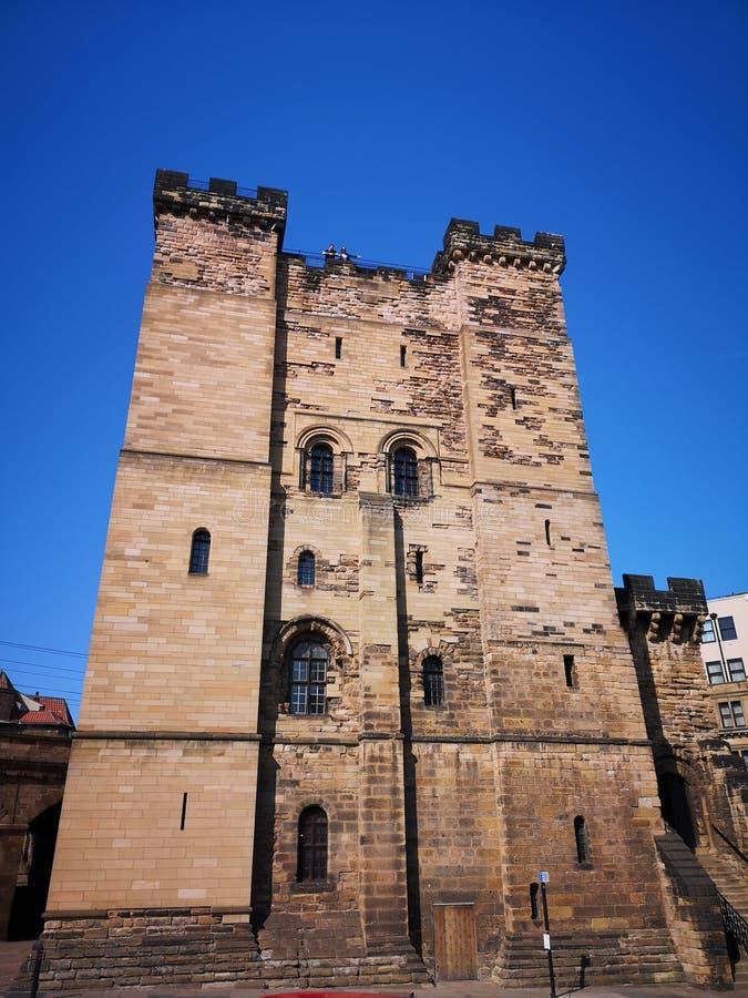 Ch?teau Newcastle de Newcastle sur Tyne photos libres de droits