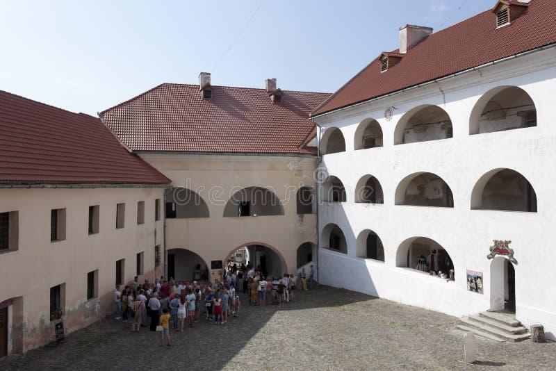 Château Palanok de Mukachevo image stock