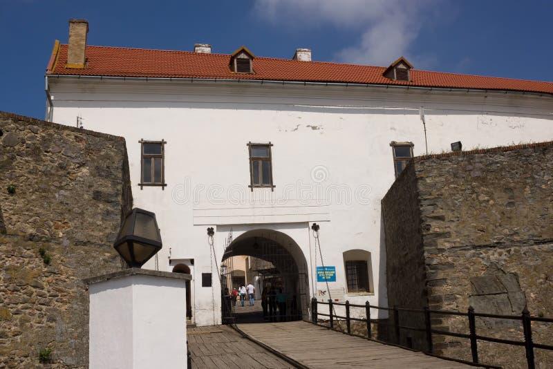 Château Palanok de Mukachevo Musée historique de Mukachevo images stock
