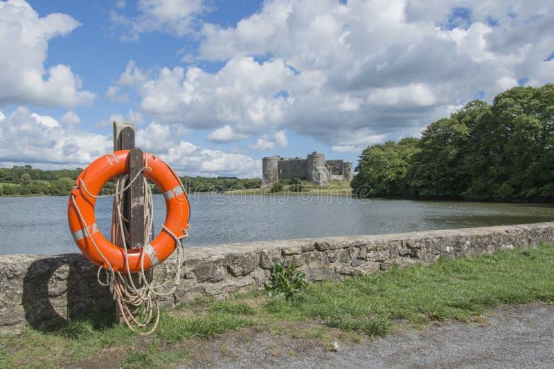 Château Pembrokeshire sud du pays de Galles de Carew image libre de droits
