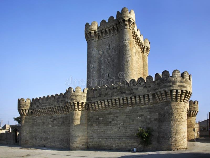Château quadrangulaire dans Mardakan l'azerbaïdjan image stock