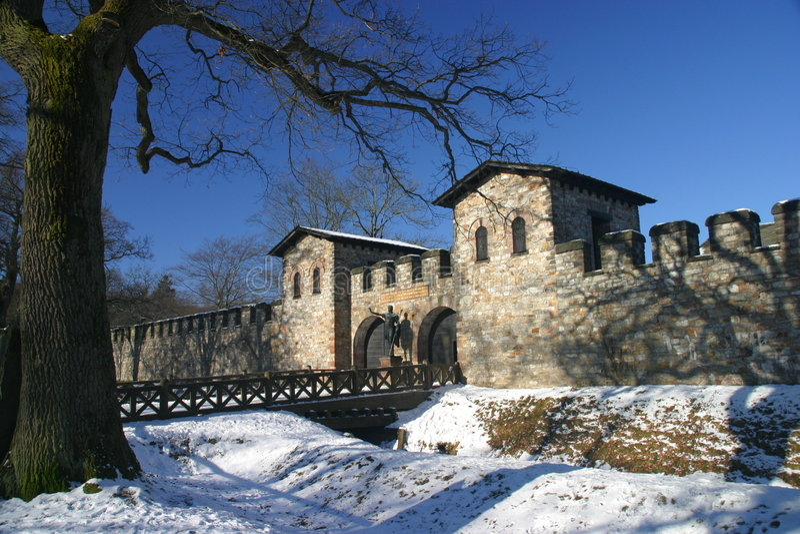 Château romain Saalburg photo libre de droits