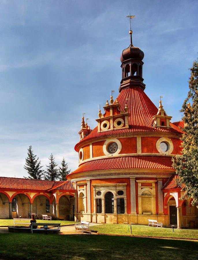 Château Rondel, point de repère tchèque photographie stock libre de droits