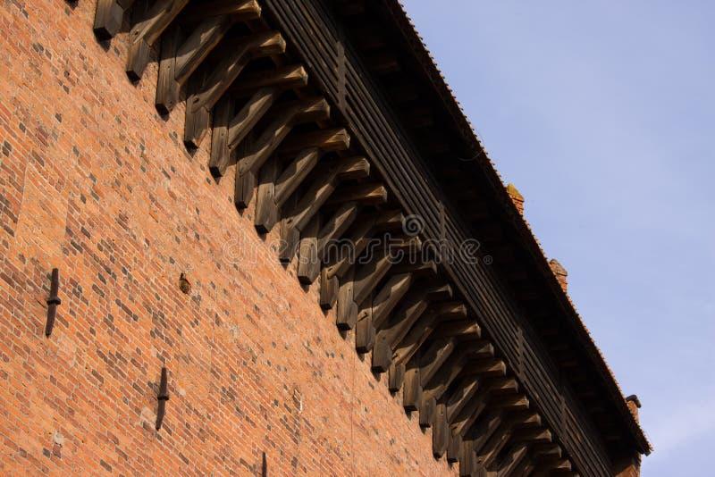 Château rouge d'Olsztyn de toit photos stock