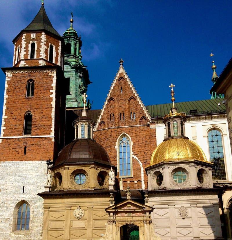 Château royal à Cracovie images libres de droits