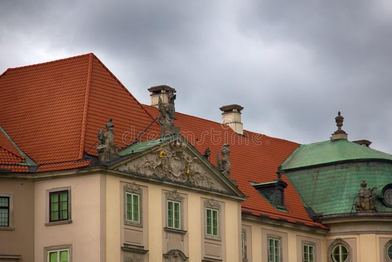 Château royal à Varsovie, place de château photos libres de droits