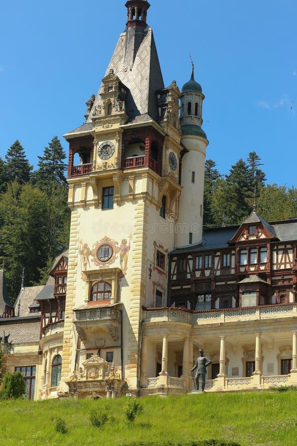 Château royal célèbre de Peles, Sinaia, Roumanie photo stock