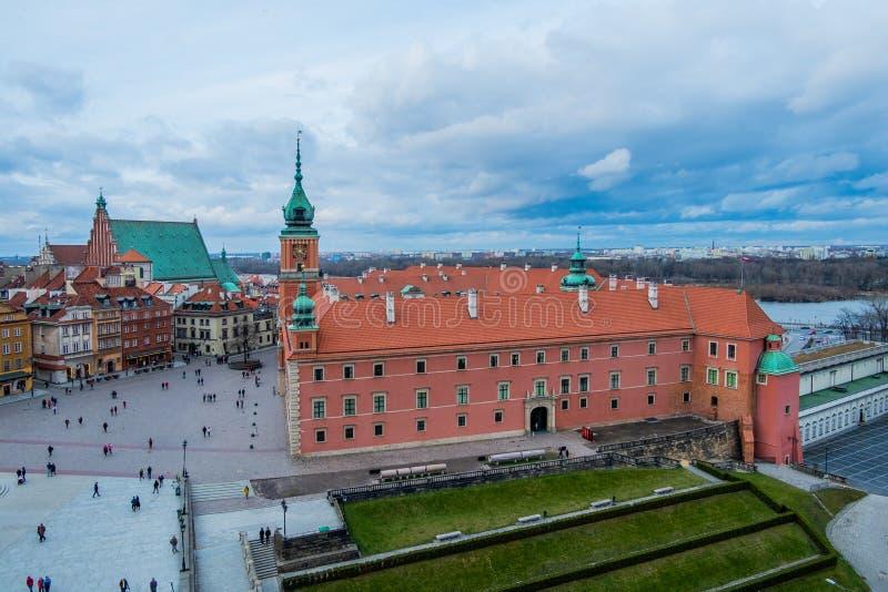 Château royal et la place de château dans la vieille ville de Varsovie, Pologne images libres de droits