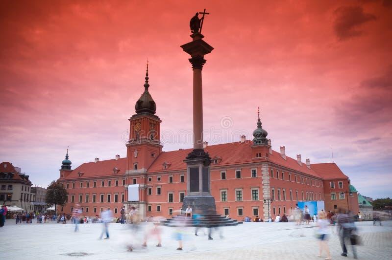 Château royal, Varsovie images stock