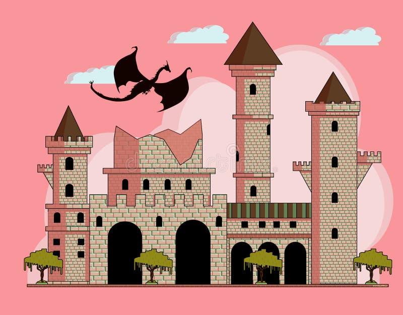 Château ruiné illustration stock