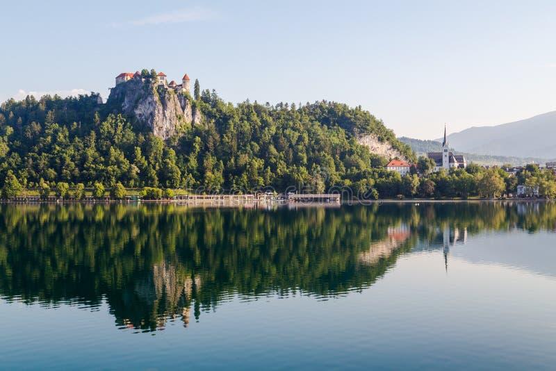 Château saigné en Slovénie images stock