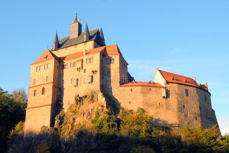 Château Saxe, Allemagne de Kriebstein photos stock
