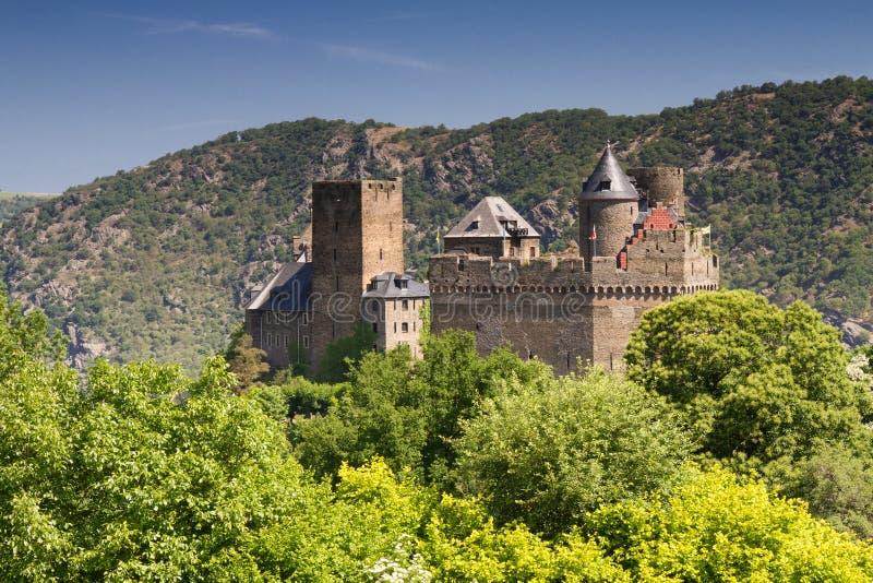Château Schoenburg à la vallée moyenne supérieure du Rhin photographie stock