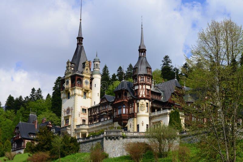 Château Sinaia, Roumanie, l'Europe de Peles image libre de droits
