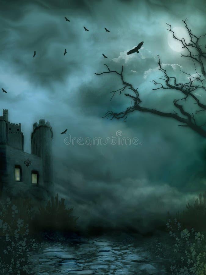 Château sombre illustration de vecteur