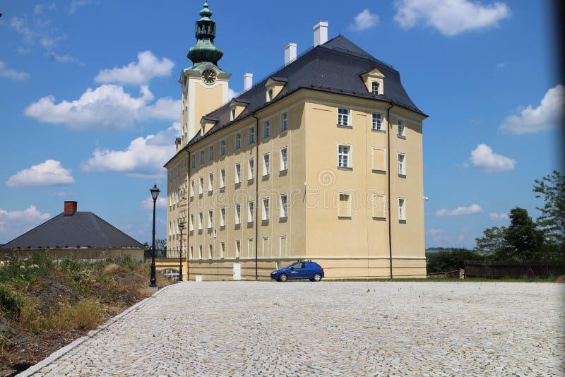 Château supérieur dans Fulnek photos stock