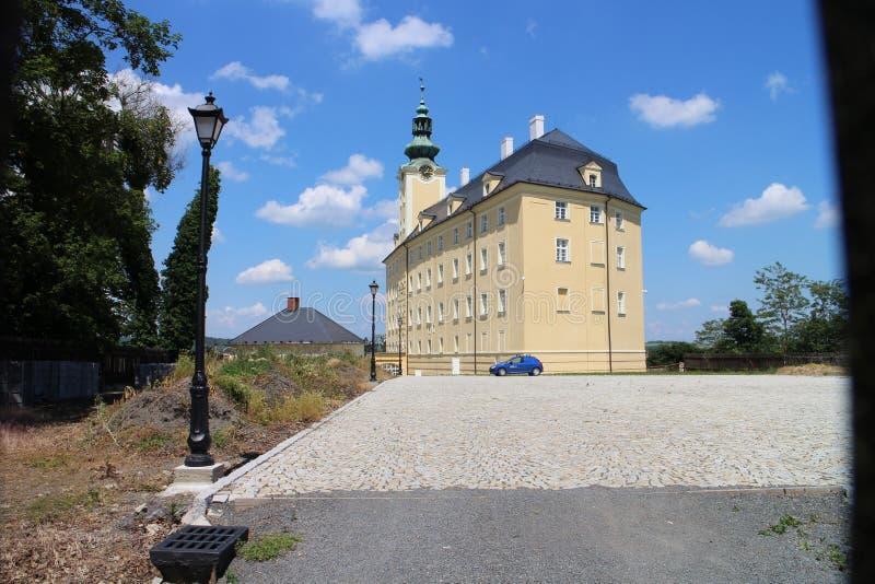 Château supérieur dans Fulnek images stock
