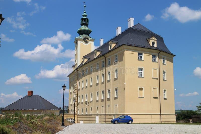 Château supérieur dans Fulnek images libres de droits