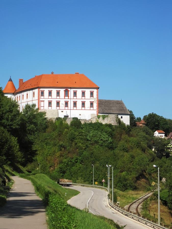 Château sur la côte images stock
