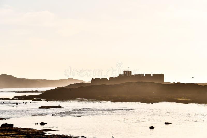 château sur la plage, photo comme fond photo libre de droits