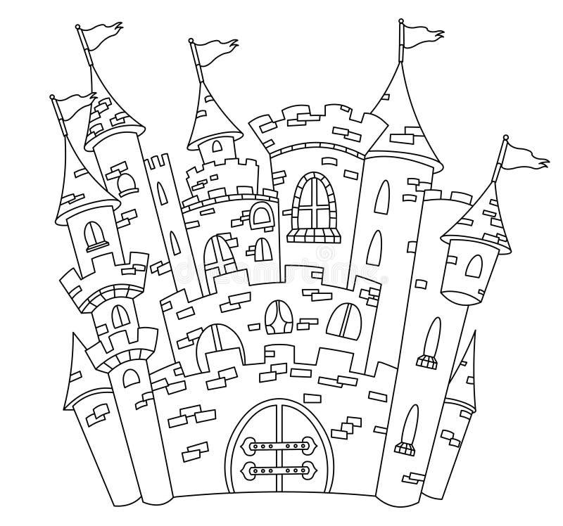 Château tracé les grandes lignes illustration de vecteur
