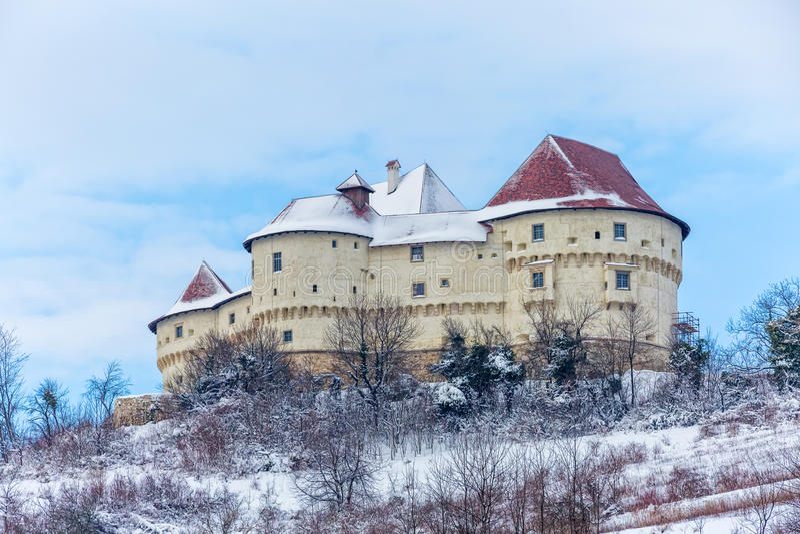 Château Veliki le Thabor en Croatie photos libres de droits