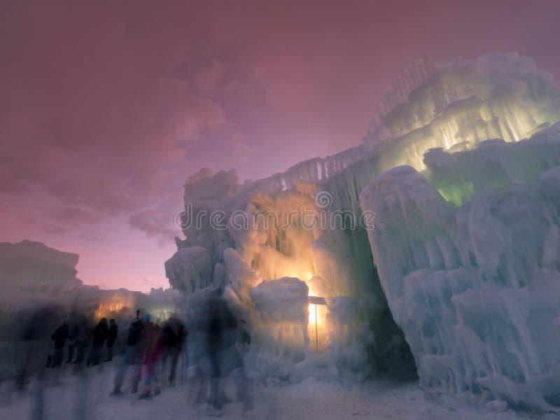Châteaux de glace photographie stock
