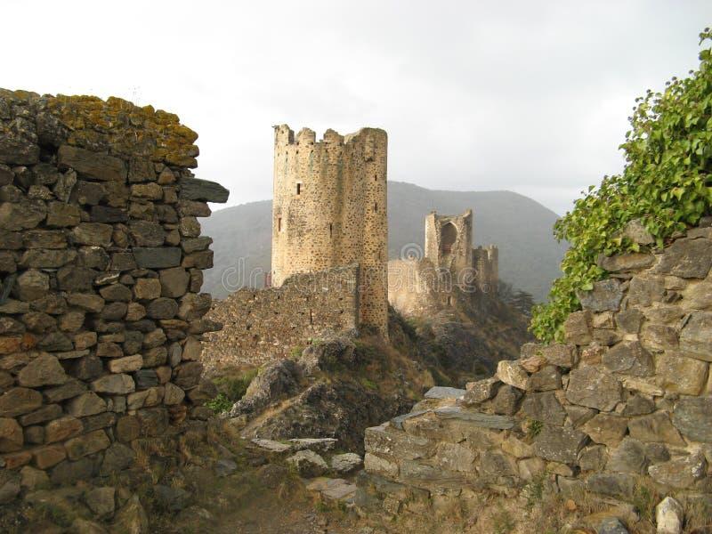 Châteaux de Lastours images stock