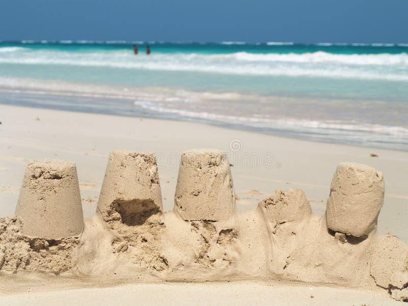 Châteaux de sable photographie stock